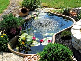 Laghetti ornamentali giardino accesori giochi d 39 acqua for Vasche vetroresina per laghetti