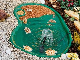 Laghetti tartarughe realizzati in materiale antisdrucciolo for Vasche vetroresina per laghetti