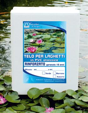 Teli giardini d 39 acqua telo laghetti ornamentali laghetto for Teli pvc per laghetti